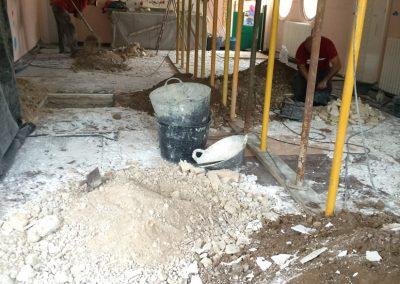 Reparación y refuerzo de forjados con cemento aluminoso (ELCHE).